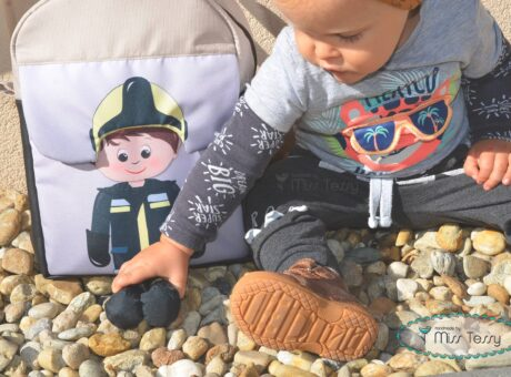 lógalába gyerek hátizsák tűzoltó