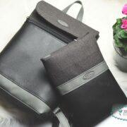 Mami táska pelenkatartóval -mini antracit Miss Tessy