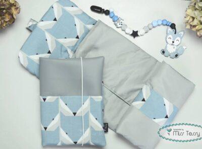 Babaköszöntő ajándék kisfiúknak - kék róka