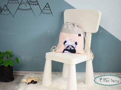 PakolniJó Gyerek Tornazsák - PANDA lány (1)