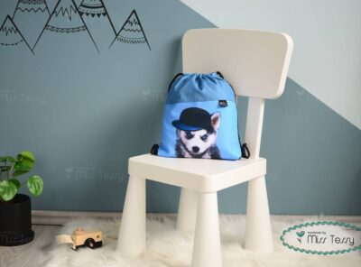 PakolniJó Gyerek Tornazsák - husky kutya misstessy (1)
