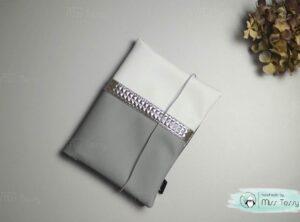 Textilbőr pelenkatartó- ezüst (2)