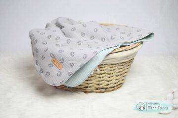 Duplagéz takaró – menta szürke süni