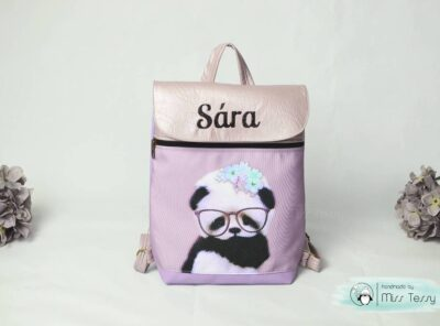 kislány pandás óvodás bölcsis hátizsák